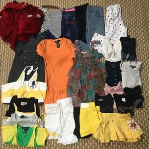 Lot Of Girls Spring Summer Clothes Sz 6/7 Years